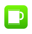 tea mug icon digital green vector image vector image