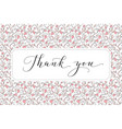 thank you card with hand written custom vector image