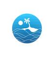 tropical island beach vacation sign symbol vector image vector image