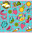 tropical summer seamless pattern vector image vector image