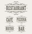 vintage restaurant and pizzeria banners vector image vector image