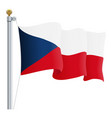 waving czech republic flag isolated on a white vector image