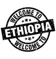 welcome to ethiopia black stamp vector image vector image