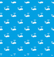 whale pattern seamless blue vector image
