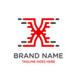 writing x logo design template vector image
