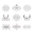 Set of Vintage Labels Line Emblems Frames vector image