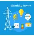 Electricity Service Flat Design vector image