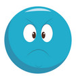 angry chat emoticon vector image