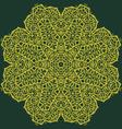 aztec flower vector image vector image