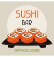 Background with sushi vector image vector image