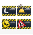 beware traffic sign under construction set vector image vector image