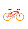bicycle on white vector image vector image