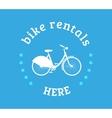 bike rental icon vector image vector image