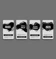 black friday set sale banners for social media vector image vector image