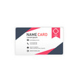 black red business abstract name card image vector image vector image