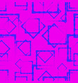 blue rhombuses and squares in intersection on a vector image vector image