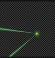 bright green laser beams vector image