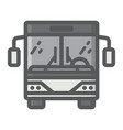 bus filled outline icon transport and vehicle vector image vector image