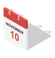 calendar icon set isometric style vector image