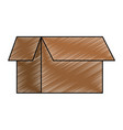 carton box isolated icon vector image vector image