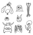 cartoon monsters set01 vector image