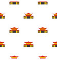 Chinese temple pattern seamless vector image