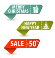 Collect Christmas Signs vector image