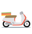 Creative flat design scooter icon