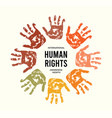 december is human rights awareness month vector image