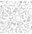 digital gadgets pattern computer devices vector image