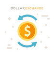 dollar currency exchange concept stock market vector image vector image