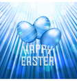 easter background rays blue vector image vector image