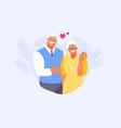elderly couple in love vector image vector image