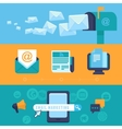 Email marketing concepts - flat icons vector image