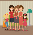 family related design vector image