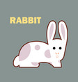 farm animal rabbit simple vector image vector image