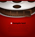 film tape on red background vector image vector image