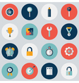 Flat circle Business icon set vector image vector image