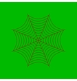 flat on background of spider web vector image