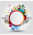 floral circle background vector image vector image