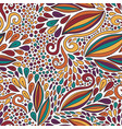 floral seamless pattern bright doodle modern vector image vector image