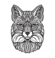 Fox head Hand drawn sketch animal Ethnic vector image vector image