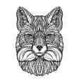 fox head hand drawn sketch animal ethnic vector image vector image