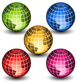 glass globes vector image vector image
