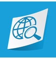 Global search sticker vector image