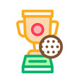 golf champion cup icon outline vector image