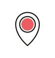 gps pointer navigation social media icon line and vector image vector image