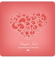 heart sweet love valentine day vector image