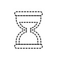 hourglass social media mobile app symbol vector image