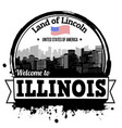 illinois stamp vector image